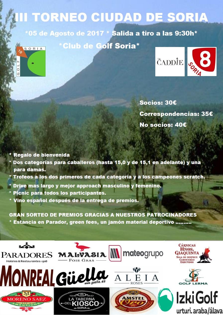 Iii torneo ciudad de soria golf soria for Horario piscinas soria 2016